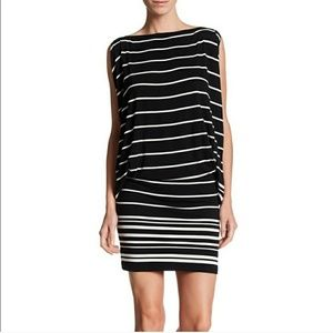 Max Studio Black and White Stripe Tunic Dress
